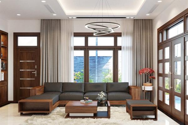 Bàn ghế gỗ phòng khách đẹp 4