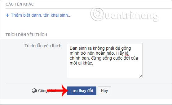 Cách thêm trích dẫn yêu thích trên Facebook - Ảnh minh hoạ 4