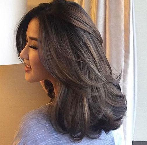 Nhuộm tóc màu nâu lạnh