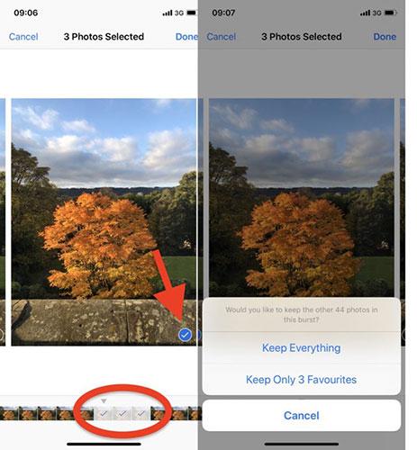 Save individual photos taken with Burst Mode in Photos