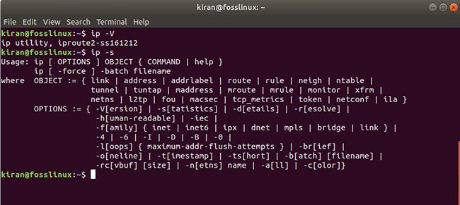 Ip command in Linux