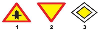 Câu hỏi 12: Biển nào báo hiệu giao nhau với đường không ưu tiên?