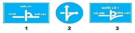 Câu hỏi 15: Biển nào báo hiệu cầu vượt liên thông?