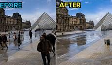 Hướng dẫn xóa nhiều đối tượng bằng phương pháp chồng ghép ảnh trong Photoshop