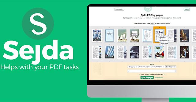 Cách chỉnh sửa PDF trên Sejda trực tuyến