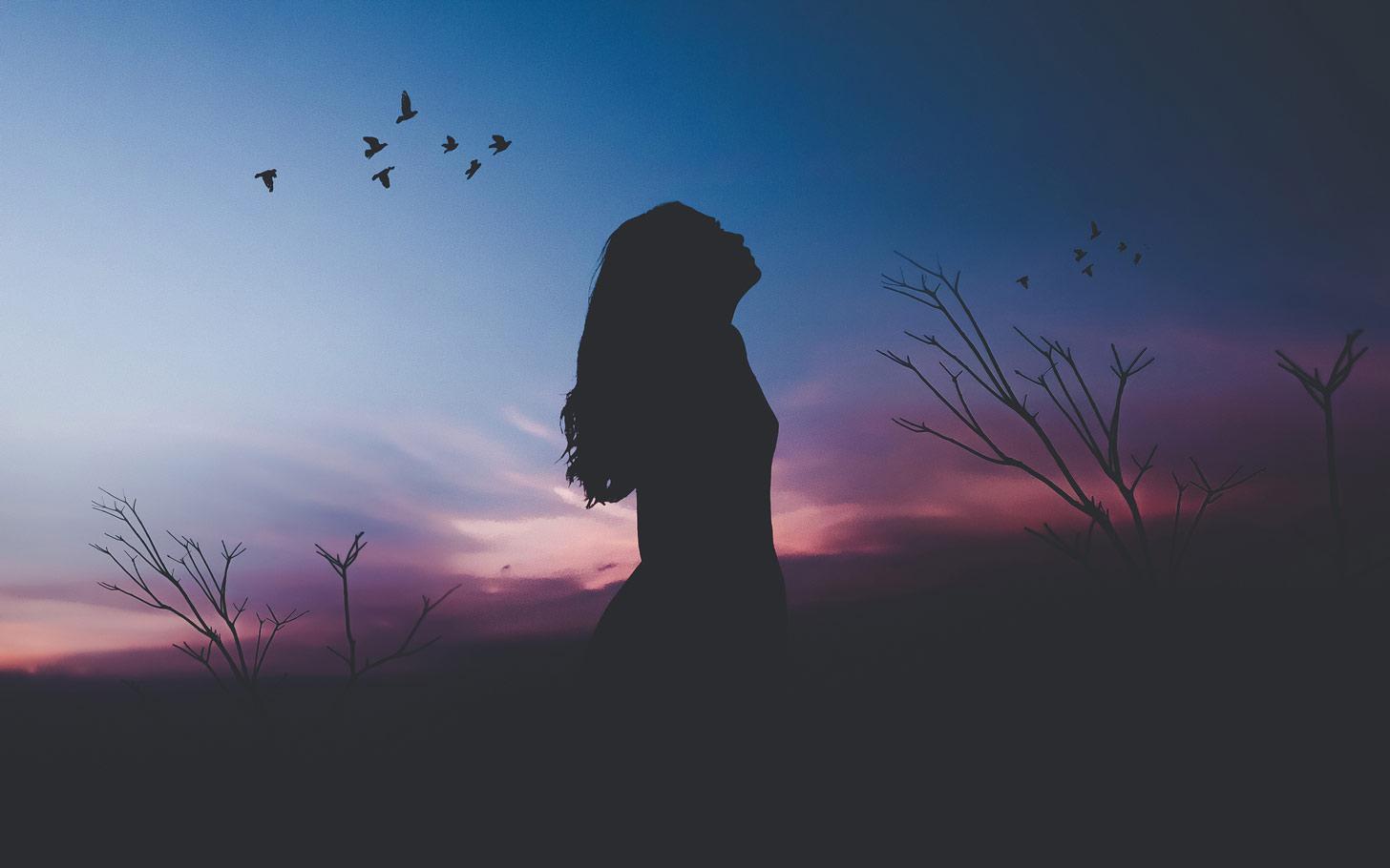 Hình ảnh cô đơn thể hiện tâm trạng buồn, chán nản để thay avatar dành cho các bạn nữ.