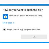 Cách mở file EPUB trên Windows 10 (không cần Microsoft Edge)