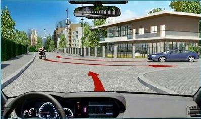 Câu hỏi 20: Các xe đi theo thứ tự nào là đúng quy tắc giao thông đường bộ?