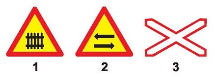 Câu hỏi 11: Biển nào báo hiệu nguy hiểm giao nhau với đường sắt?