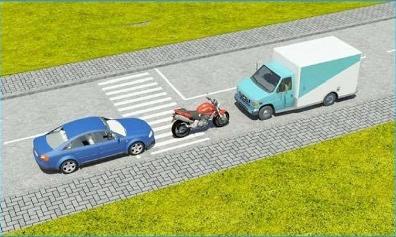 Câu hỏi 17: Xe nào đỗ vi phạm quy tắc giao thông?