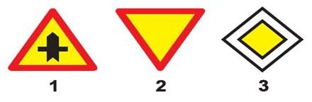 Câu hỏi 12: Biển nào báo hiệu, chỉ dẫn xe đi trên đường này được quyền ưu tiên qua nơi giao nhau?