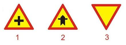 Câu hỏi 13: Biển nào báo hiệu giao nhau với đường không ưu tiên?
