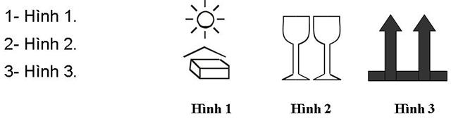 Câu hỏi 12: Hình nào dưới đây đòi hỏi hàng phải xếp theo hướng thẳng đứng?