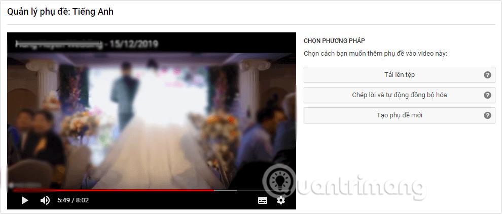 Chọn cách thêm phụ đề vào video hoặc chỉnh sửa phụ đề cho video