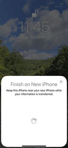 Thông báo Finish on New iPhone