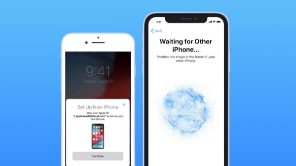 iPhone mới sẽ hiển thị một hình ảnh động dạng đám mây xanh