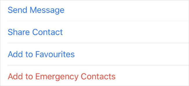 Nhấn tùy chọn Share Contact