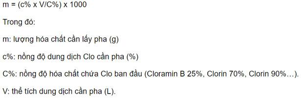 Công thức pha dung dịch cloramin B để diệt khuẩn