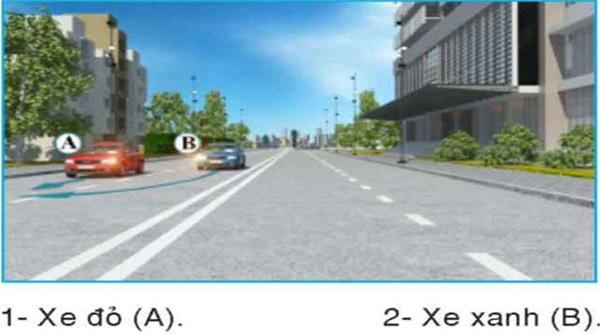 Câu hỏi 25: Xe nào phải nhường đường là đúng quy tắc giao thông?