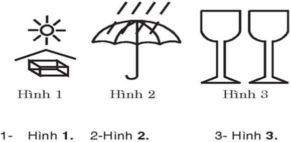 Câu hỏi 12: Những ký hiệu hàng hóa dưới đây, ký hiệu nào chống mưa?