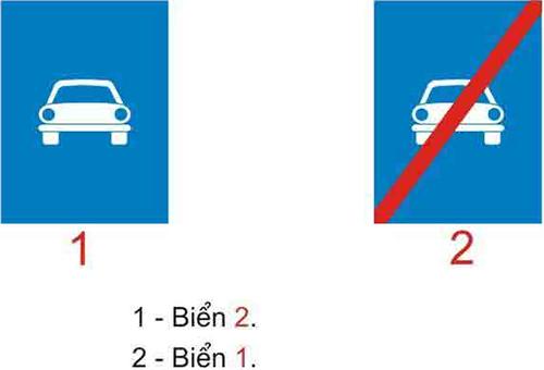 Câu hỏi 19: Biển báo nào báo hiệu hết đường dành cho ô tô?