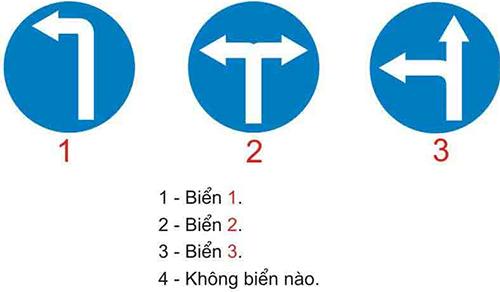 Câu hỏi 21: Biển nào cho phép được quay đầu xe đi theo hướng ngược lại khi đặt biển trước ngã ba, ngã tư?