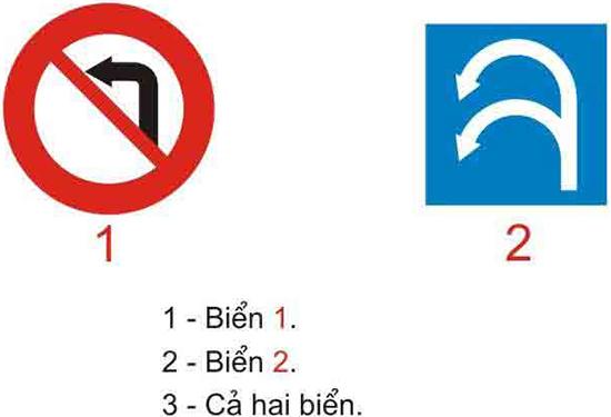Câu hỏi 18: Biển nào xe quay đầu không bị cấm?
