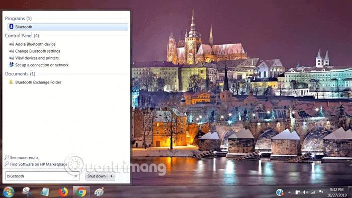 Tìm kiếm và chọn Change Bluetooth Settings