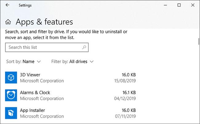 Nếu không thích PowerShell, bạn có thể dùng Settings