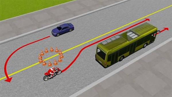 Câu 10: Xe nào vi phạm quy tắc giao thông?
