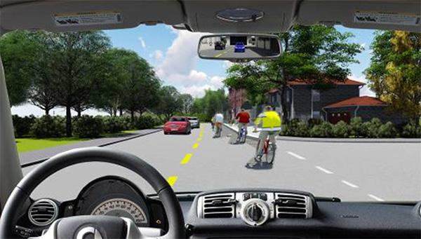 Câu 18: Bạn xử lý như thế nào khi lái xe ô tô vượt qua đoàn người đi xe đạp có tổ chức?