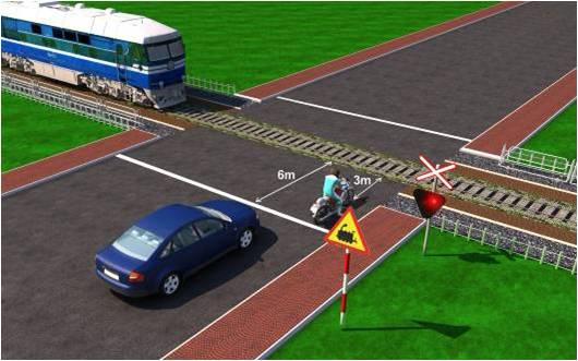 Câu hỏi 25: Xe nào dừng đúng theo quy tắc giao thông?