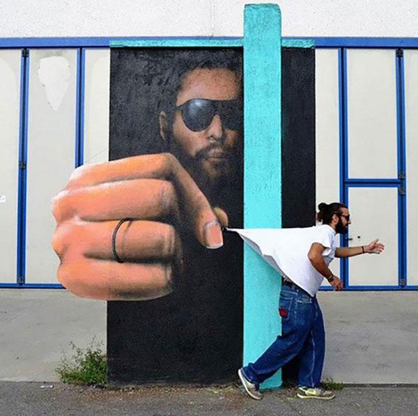 Ảnh nghệ thuật đường phố sáng tạo 2