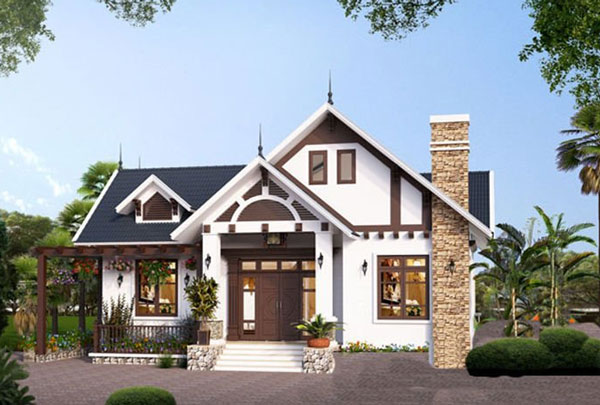 Phần mái của ngôi nhà được thiết kế ấn tượng