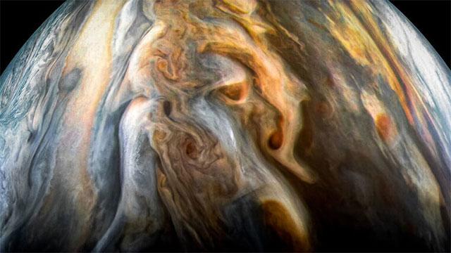 Hình ảnh vùng xích đạo phía nam sao Mộc chụp ngày 1 tháng 9 năm 2017.