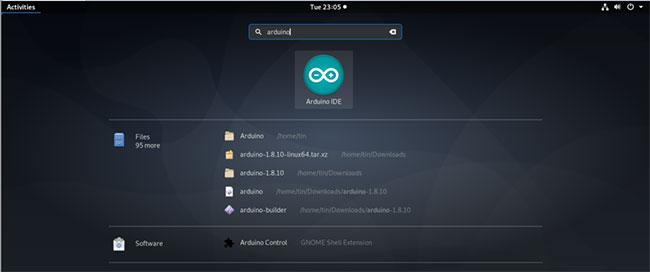 Nhấp vào biểu tượng Arduino IDE để khởi chạy nó