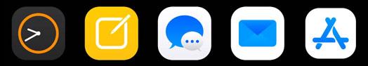 Các icon ứng dụng mặc định được thiết kế với góc bo tròn hơn
