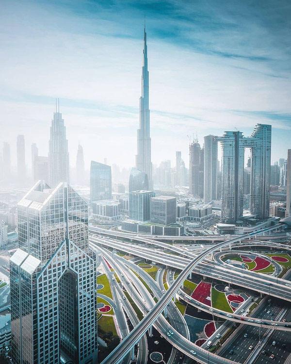 Nhìn từ trên cao, mạng lưới giao thông của Dubai trông như mê cung 2