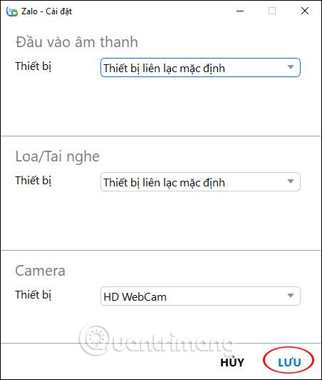 Chỉnh âm thanh, webcam