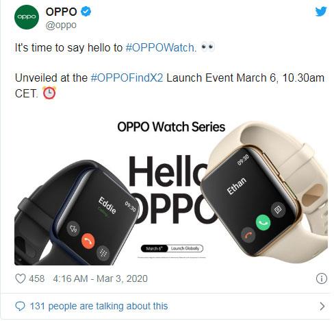 Oppo Watch sẽ có ít nhất 2 biến thể về màu sắc
