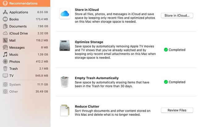 Mac Storage Management
