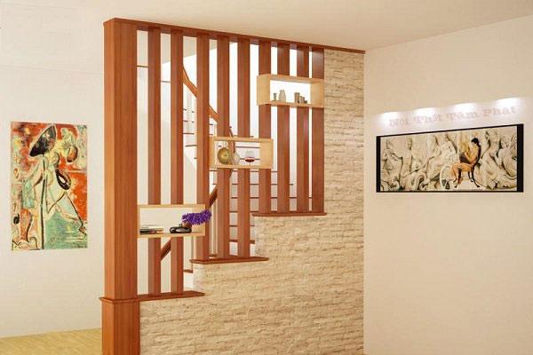Vách ngăn bằng gỗ đẹp 8