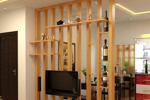 Vách ngăn bằng gỗ đẹp 12