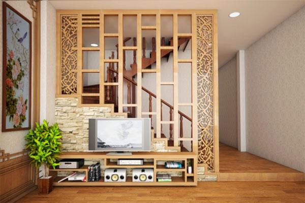 Vách ngăn bằng gỗ đẹp 14