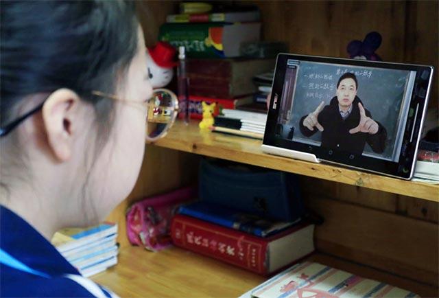 Học trực tuyến tại Trung Quốc trong mùa dịch