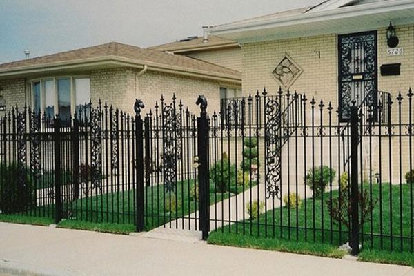 Hàng rào sắt nghệ thuật 10