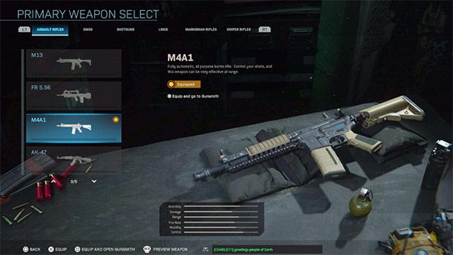 m4a1 cod warzone