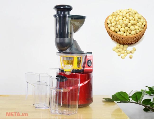 Cách làm sữa hạt sen bằng máy ép chậm