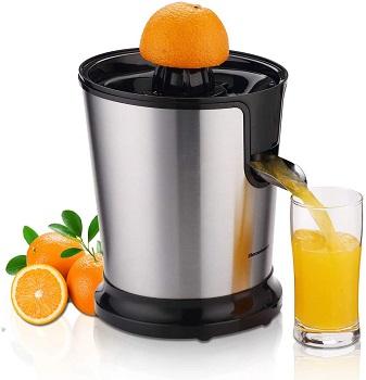 Mua máy vắt cam chất lượng để làm nước cam nhanh, an toàn cho sức khỏe.