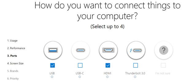 Chọn cổng kết nối cho laptop